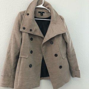H&M tan pea coat